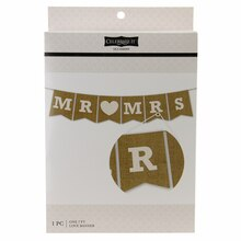 Celebrate It Occasions Burlap Mr & Mrs Banner